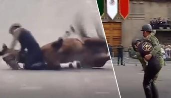عروض فاشلة بالخيول ومواقف محرجة في عرض عسكري بالمكسيك