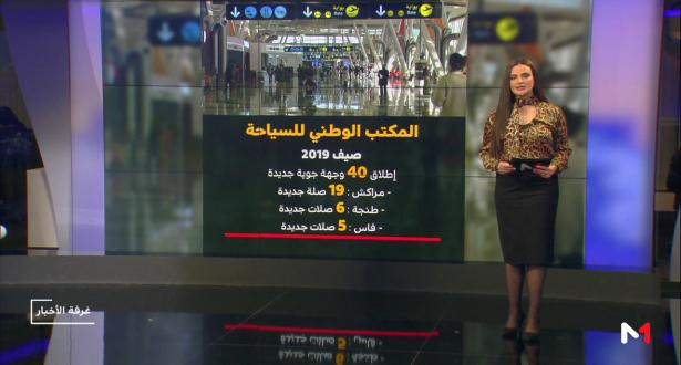شاشة تفاعلية .. المكتب الوطني للسياحة يطلق 40 وجهة جوية جديدة
