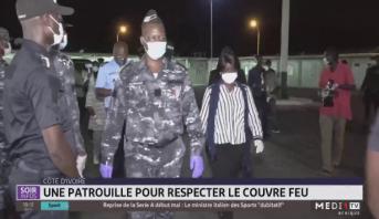 Côte d'Ivoire: une patrouille pour respecter le couvre feu