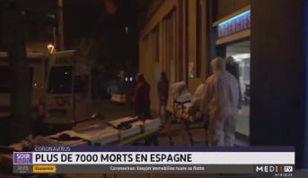 Coronavirus : plus de 7.000 morts en Espagne