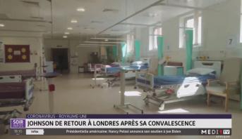 Coronavirus/ Royaume-Uni: Johnson de retour à Londres après sa convalescence