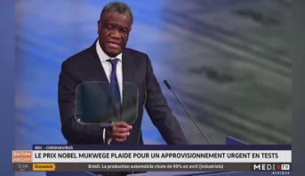 Coronavirus en RDC: le prix Nobel Mukwege plaide pour un approvisionnement urgent en test
