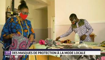 Nigéria: des masques de protection à la mode locale