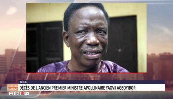 Togo: décès du premier ministre Apollinaire Yaovi Agboyibor
