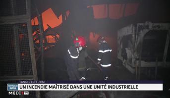 Tanger free Zone: un incendie maitrisé dans une unité industrielle
