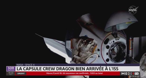 Nasa-Space X: la capsule Crew Draguon bien arrivée à l'ISS