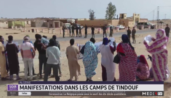 Algérie: manifestations dans les camps de Tindouf