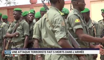 Mali: une attaque terroriste fait 5 morts dans l'armée