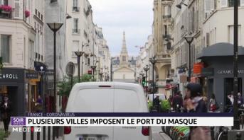France-Coronavirus: plusieurs villes imposent le port du masque
