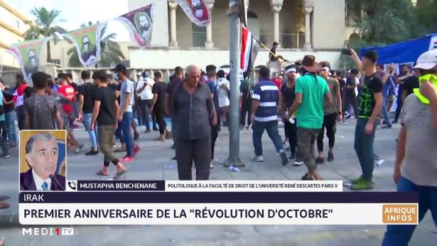 """Irak: premier anniversaire de la """"révolution d'octobre"""""""