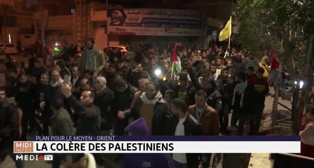 Plan pour le Moyen-Orient : la colère des Palestiniens