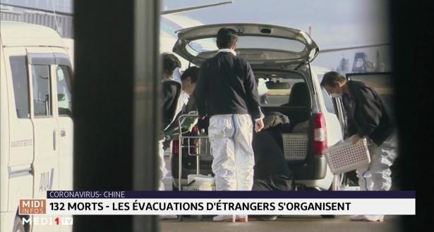 Coronavirus : 132 morts en Chine, les évacuations d'étrangers s'organisent