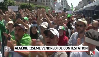Algérie: 25ème vendredi de contestation