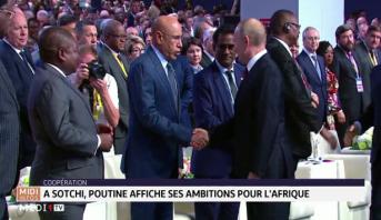 Sotchi: Poutine affiche ses ambitions pour l'Afrique