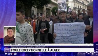 Algérie : foule exceptionnelle dans la capitale