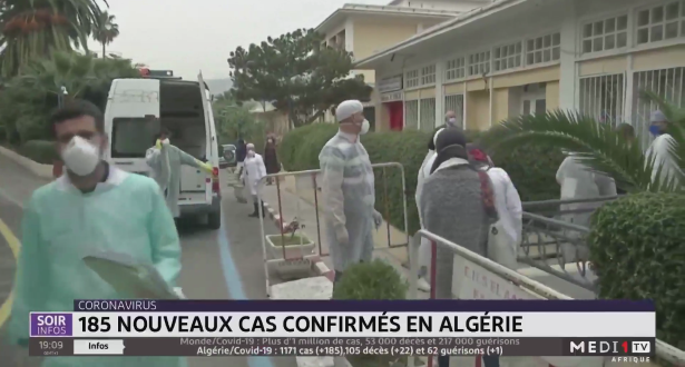 Coronavirus en Algérie: 185 nouveaux cas confirmés