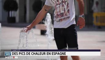 Canicule: des pics de chaleur en Espagne