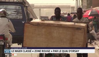 """Attaque de Kouré: le Niger classé """"zone rouge"""" par le Quai d'Orsay"""