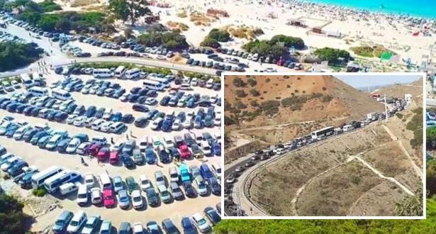 صور .. اكتظاظ غير مسبوق بمدن الشمال ومغاربة غيروا الوجهة