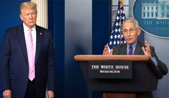 """خبير البيت الأبيض فاوتشي يحذر من أن تداعيات إعادة فتح البلاد سريعا ستكون """"خطيرة جدا"""""""