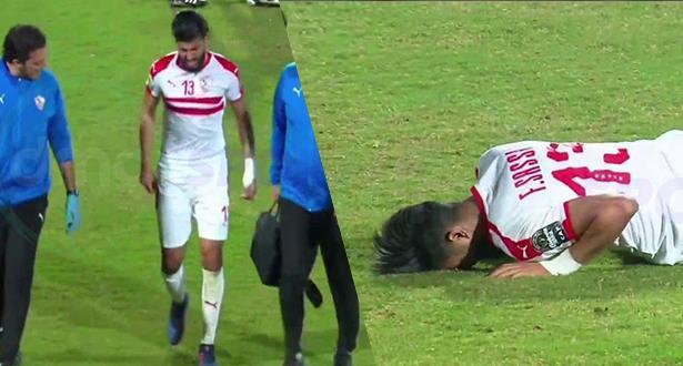 إصابة قوية لنجم الزمالك المصري أمام الحسنية